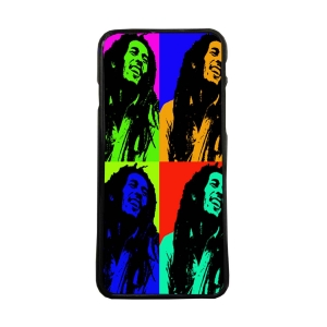 Funda de movil carcasas compatible con iphone 5 5s Bob Marley Warhol