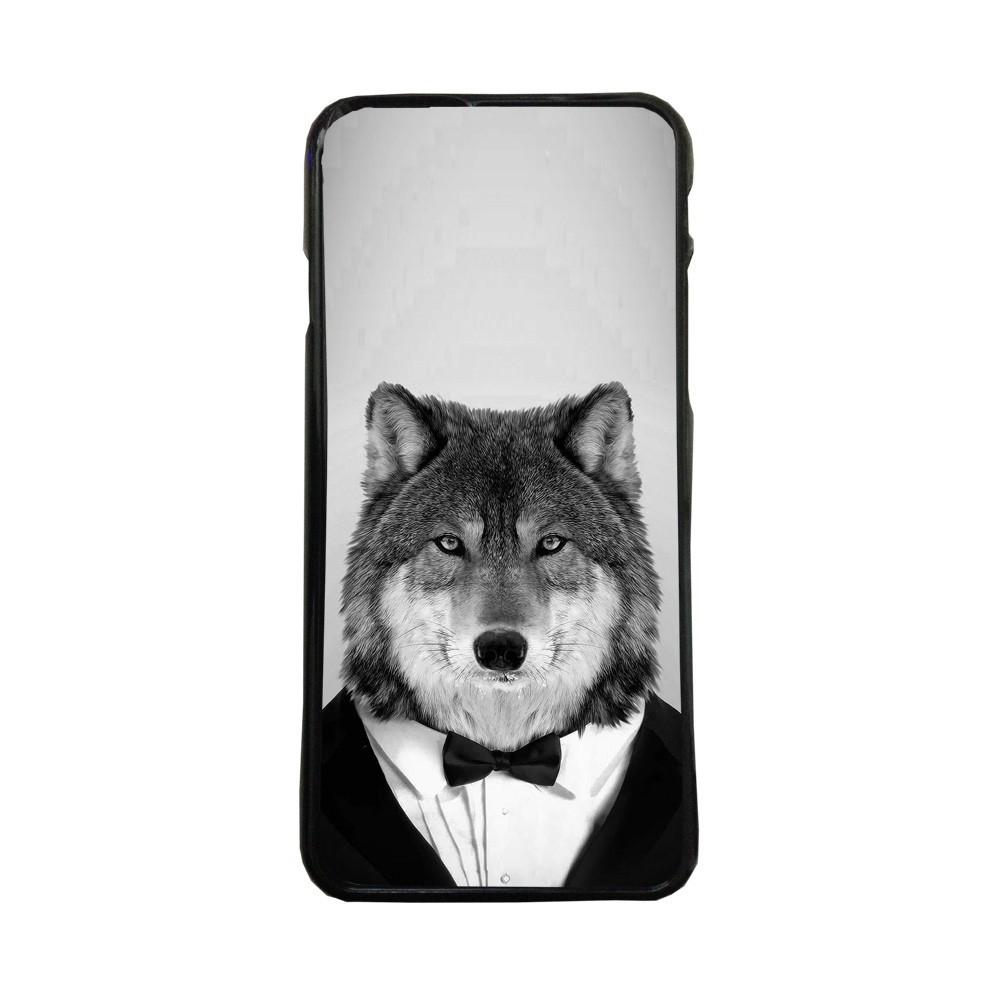 Carcasas de movil fundas de moviles de TPU compatible con Iphone 5 5s lobo con esmoquin animales