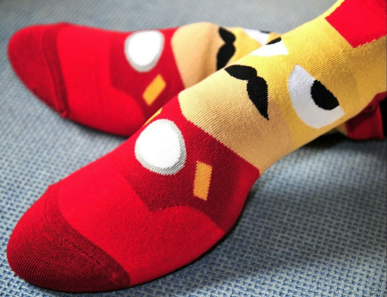 Calcetines Superheroes Moda Dibujos Heroes Niños Adultos Unisex Ropa Iron Man
