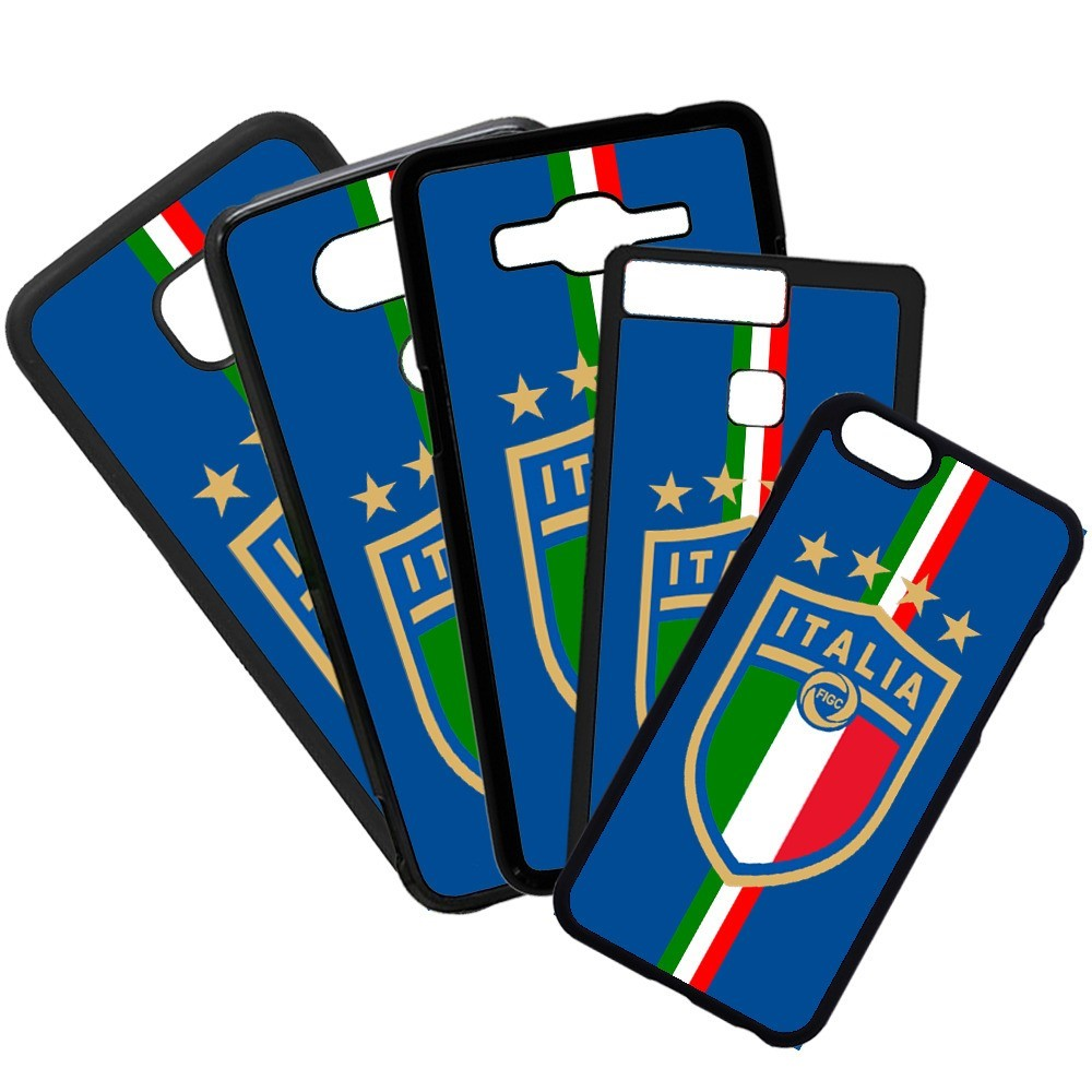 Carcasas de movil fundas de moviles de TPU compatible con Iphone 8 selección de fútbol italia escudo