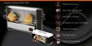 Multi Tostador Vertical Todo Tipo De Pan 750W Potencia Indicador Luminoso Tostar