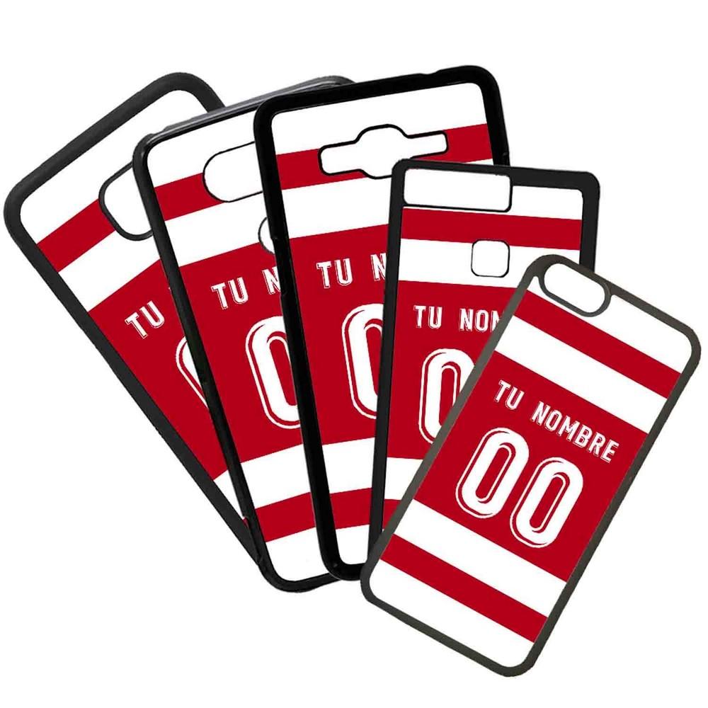 Funda de Movil Carcasa de Moviles Fundas Carcasas de TPU Compatible con el movil Huawei P20 Lite Modelo Camiseta de Futbol Granada Con El Nombre y Numero Que Quieras