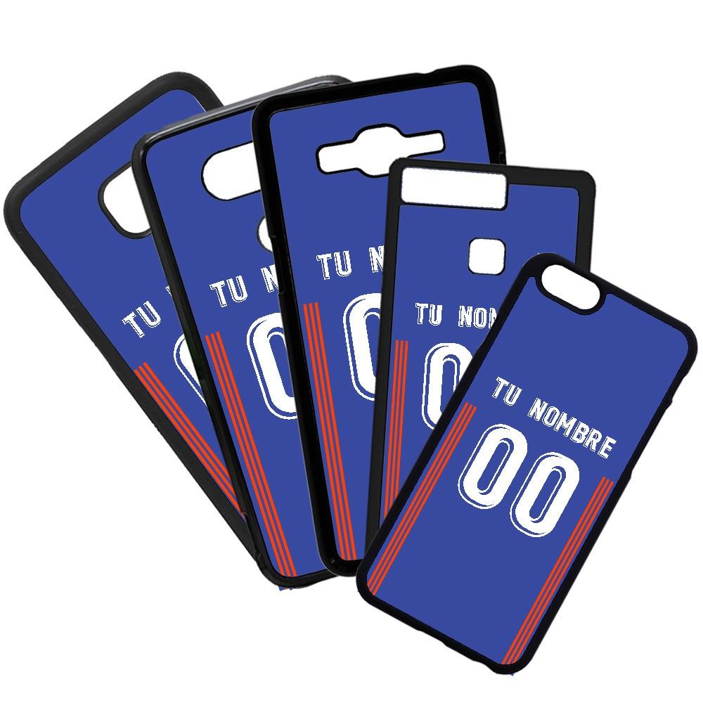 Carcasas de movil fundas de móviles de TPU compatible con Samsung Galaxy A8 Modelo Camiseta de Fútbol Real Oviedo con tu Nombre y Numero personalizado