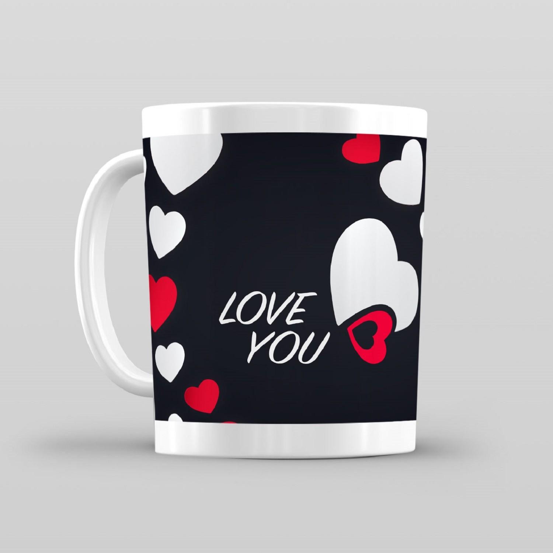 Taza De Desayuno Blanca Gran Calidad Modelo Dibujos Regalos I Love You Frases