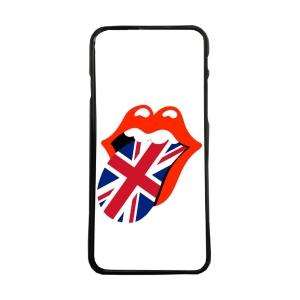 Fundas De Móviles Carcasas De Móvil De TPU Lengua Rock Bandera Gran Bretaña Logo Moda Boca