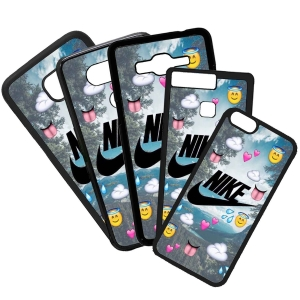 Carcasas De Móviles Funda De Móvil De TPU Compatible Con El Móvil Huawei P8 Lite 2017 Modelo Nike Emoticonos Logotipo Moda Marcas