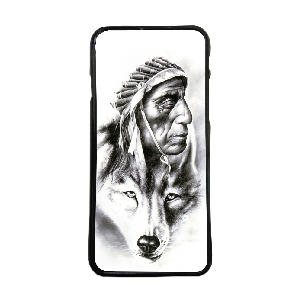 Carcasas de movil fundas de moviles de TPU compatible con Samsung Galaxy A5 2016 indio lobo tatto