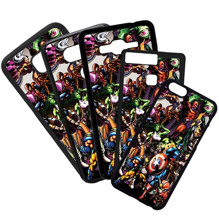 Fundas De Móviles Carcasas De Móvil De TPU Marvel Superheroes Capitan America Lobezno Colage