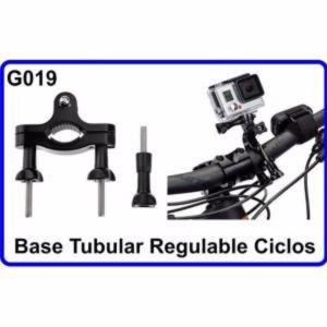 Base Tubular Regulable de Bicicleta Accesorios Camara Deportiva Compatible GoPro