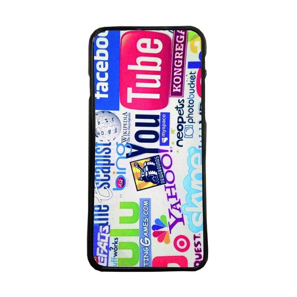 Carcasas de movil fundas de moviles de TPU compatible con Samsung Galaxy J3 2016 logos marcas internet