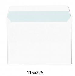 Paquete de 25 sobres blancos de 115x225 usa autoadhesivos