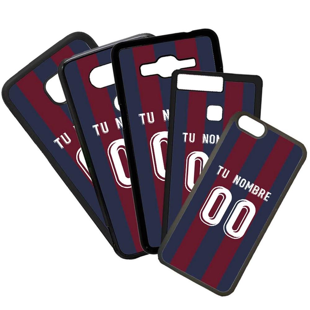 Funda de Movil Carcasa de Moviles Fundas Carcasas de TPU Compatible con el movil Huawei P20 Lite Modelo Camiseta de Futbol Eibar Con El Nombre y Numero Que Quieras