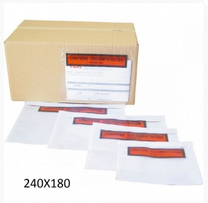 250 Sobres bolsas porta documentos 240X180 autoadhesivos envios