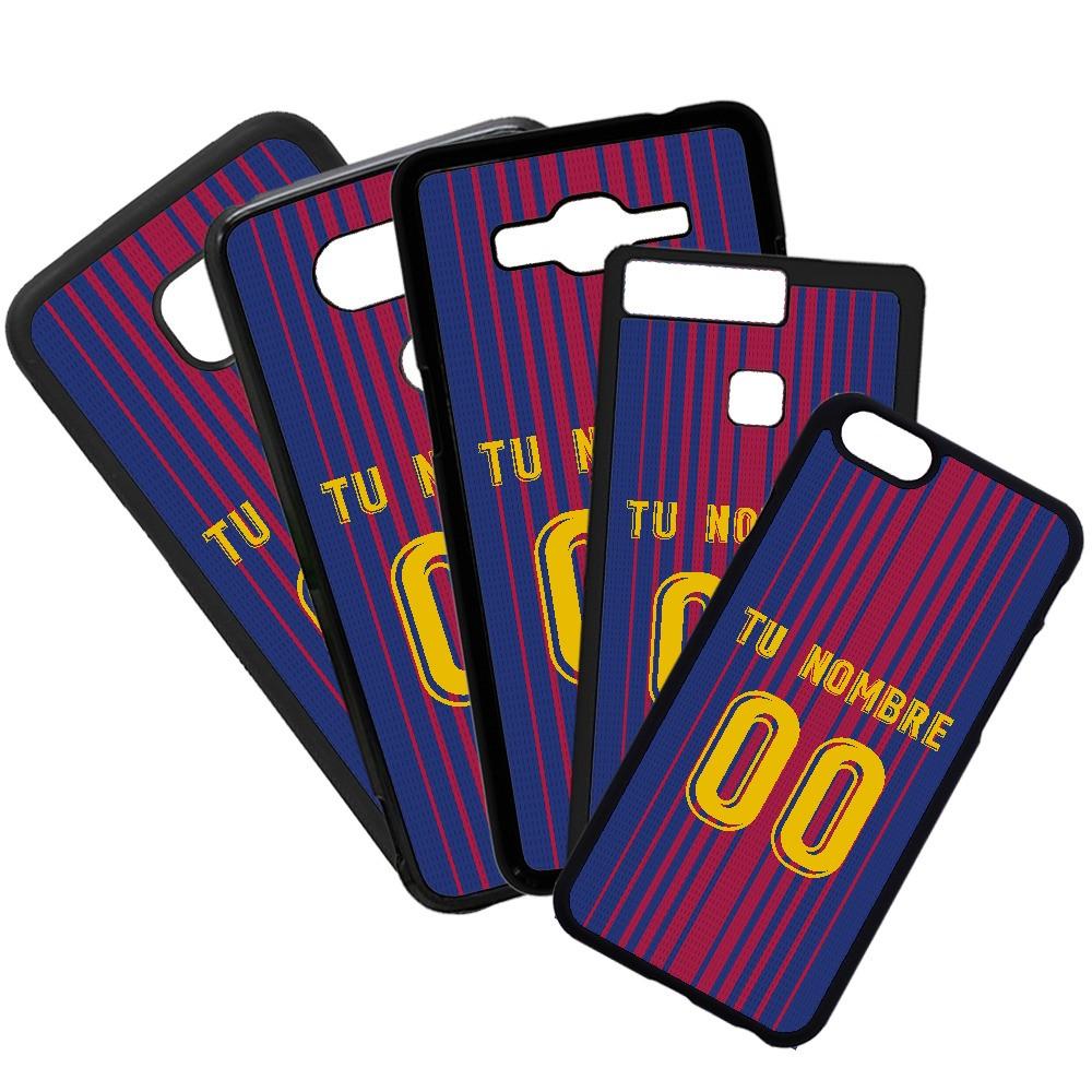 Carcasas de movil fundas de móviles de TPU compatible con Samsung Galaxy A8 Modelo Camiseta de Fútbol Barcelona Fútbol Club con tu Nombre y Numero personalizado