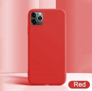 Funda Suave Silicona Gel TPU Carcasa Case PARA iPhone 11 Pro Moda Colores Rojo