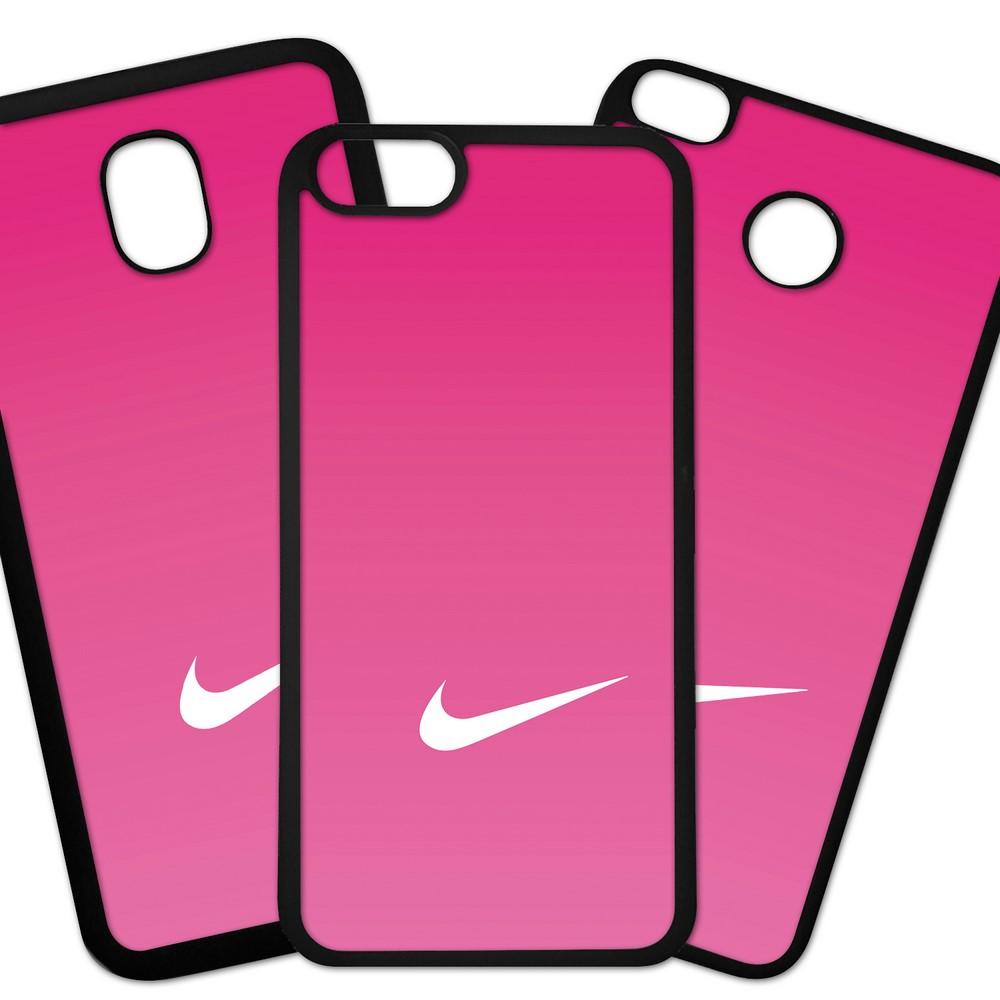 Carcasas De Móvil Fundas De Móviles De TPU Modelo Marca Deportiva NIKE LOGO blanco fondo degradado rosa