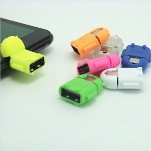Adaptador OTG Robot Micro USB Android Tablet Movil Telefono Smartphone Aleatorio