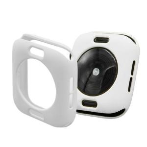 Protector Silicona Funda Compatible Con Apple Watch 38-40 MM Color Blanco