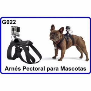 Arnes de Pecho Mascotas con Doble Vision para Camara Deportiva Compatible GoPro