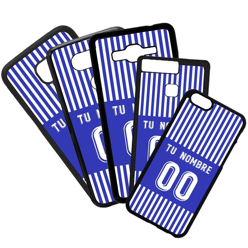 Carcasas de movil fundas de móviles de TPU compatible con Samsung Galaxy A8 Modelo Camiseta de Fútbol Real Sociedad con tu Nombre y Numero personalizado