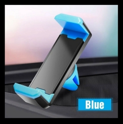 Soporte Para el Coche Movil Universal Pinza Salpicadero Car Moda Colores Gps color azul