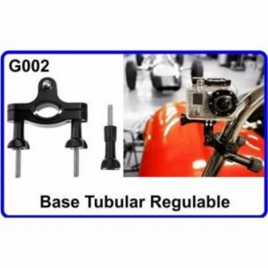 Base Tubular Regulable para Cámara Deportiva Compatible Con GoPro HERO 1 2 3 HD