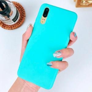 Funda Carcasa Case Huawei Silicona Flexible Ultra Fina Tpu Suave Compatible con Huawei  P30 Azul Claro