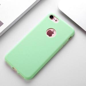 Funda Carcasa Case Iphone Silicona Flexible Ultra Fina Tpu Suave Compatible con iphone 6/6S   Verde Agujero