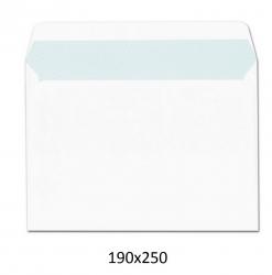 250 Sobres blancos 190X250 4º prolongado cuartilla autoadhesivos
