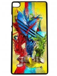Funda carcasas móvil adidas pinturas compatible con el móvil huawei p8