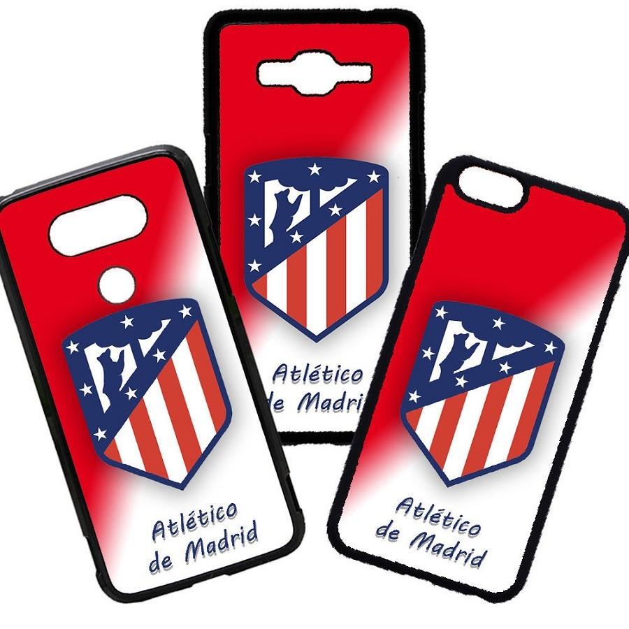 Fundas De Móviles Carcasas De Móvil De TPU Escudo Atlético De Madrid Fondo Blanco Rojo Mas Que Un sentimiento Fútbol