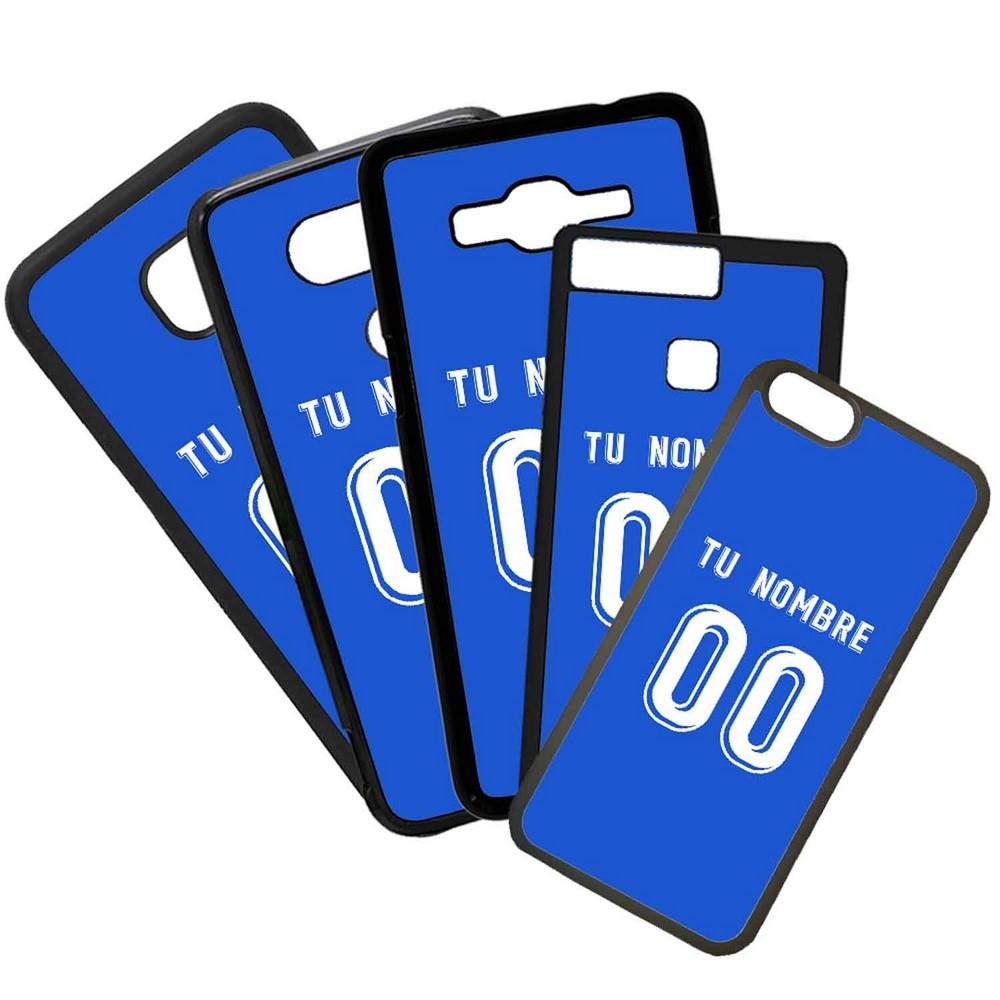 Funda de Movil Carcasa de Moviles Fundas Carcasas de TPU Compatible con el movil Huawei P20 Lite Modelo Camiseta de Futbol Getafe Con El Nombre y Numero Que Quieras