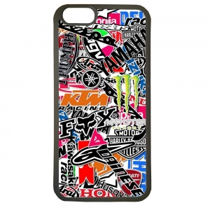 Carcasas de movil fundas de tpu compatible con iphone 6 moto motos stickers