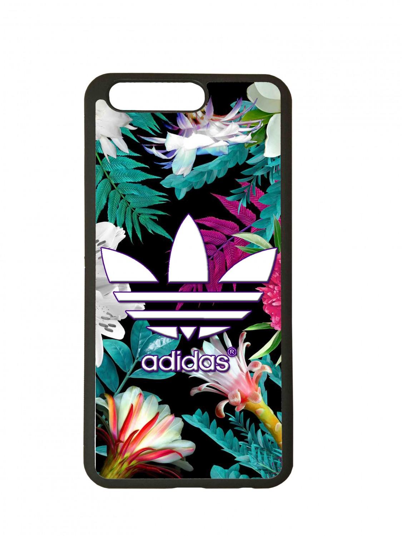 Funda carcasas móvil adidas flores compatible con el móvil Huawei P10