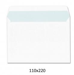 Paquete de 25 sobres blancos de 120x176 comercial autoadhesivos