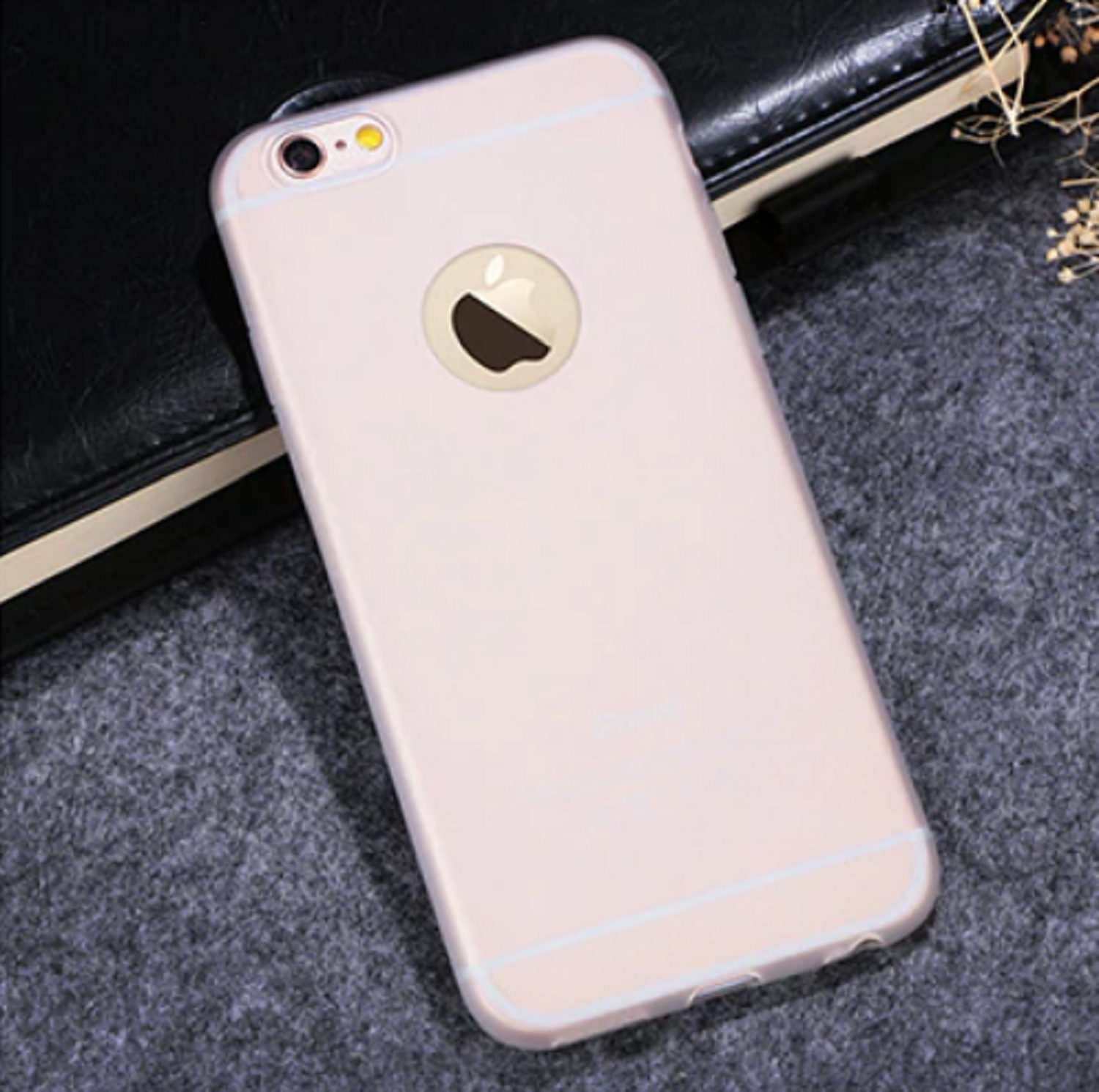 Funda Carcasa Case Iphone Silicona Flexible Ultra Fina Tpu Suave Compatible con iphone 8 Transparente Agujero