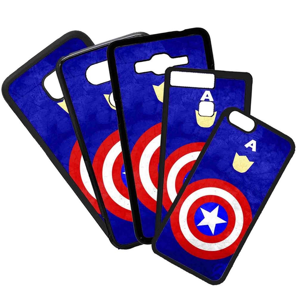 Funda de Movil Carcasa de Moviles Fundas Carcasas de TPU Compatible con el móvil Samsung Galaxy A8 Modelo Superheroes Dibujos Capitan America Heroes