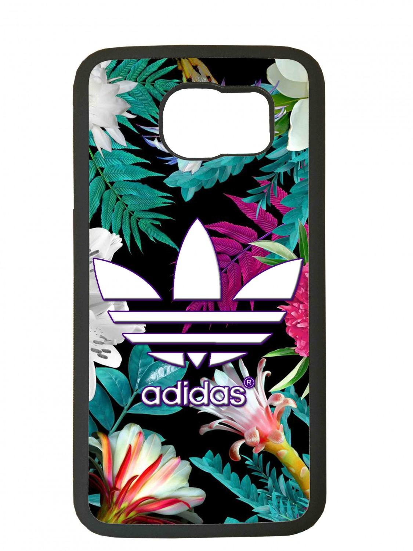 Funda carcasas móvil adidas flores compatible con móvil Samsung Galaxy S6 Edge