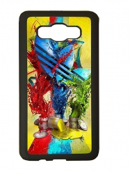 Funda carcasas móvil adidas pintura compatible con movil Samsung Galaxy j1 2016
