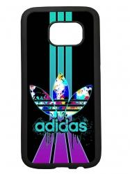 Funda carcasas móvil adidas lila compatible con móvil Samsung Galaxy S6 Edge