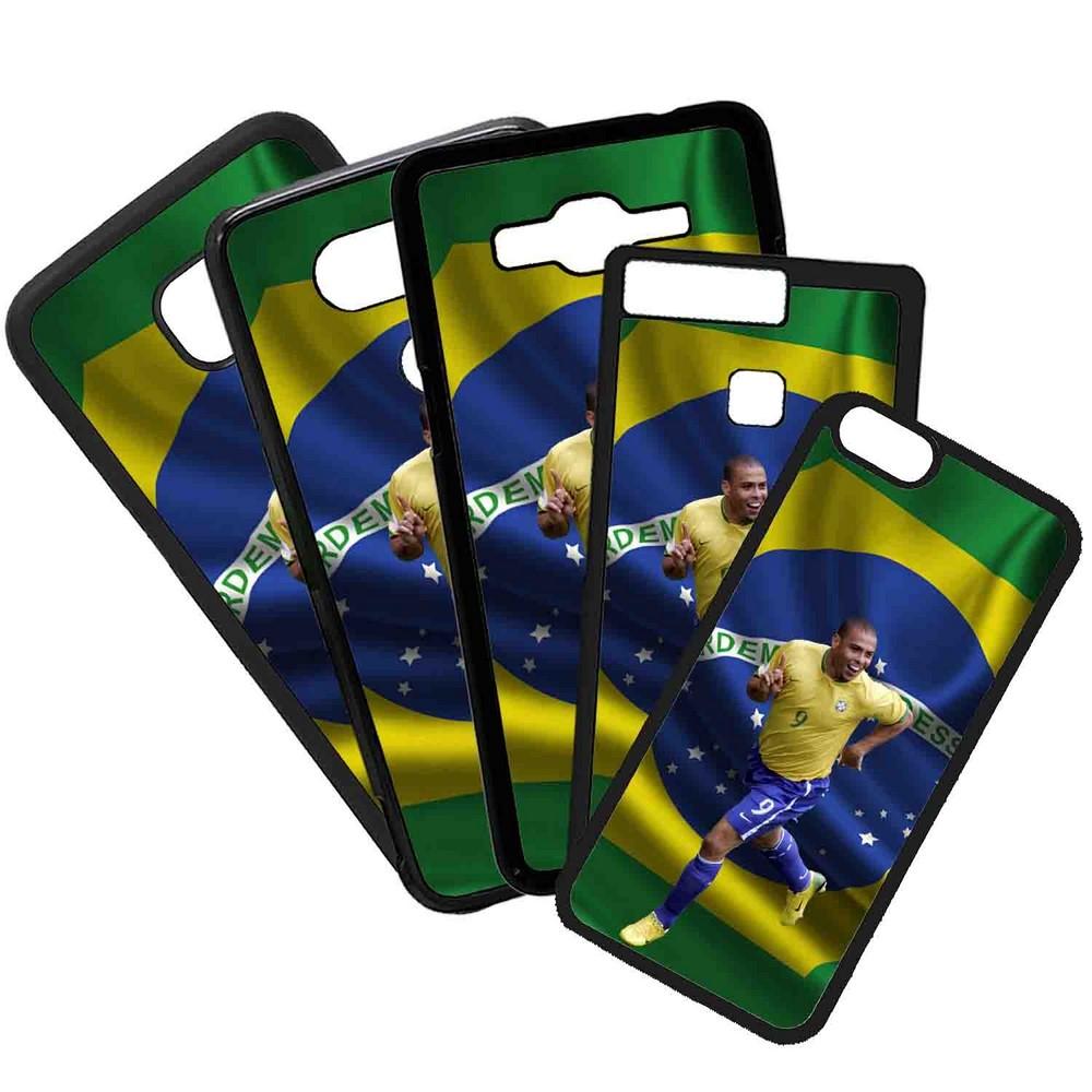 Funda de Movil Carcasa de Moviles Fundas Carcasas de TPU Compatible con el movil Samsung Galaxy J7 2017 Modelo Ronaldo Nazario Futbol Retro Brasil Seleccion
