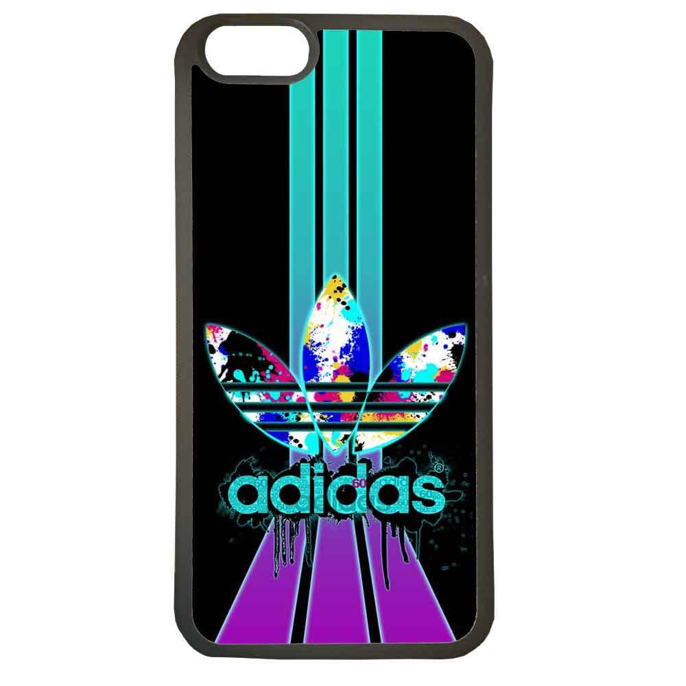 Funda carcasas móvil adidas lila compatible con el móvil iphone 8