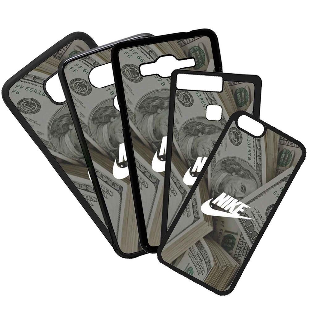Funda de Movil Carcasa de Moviles Fundas Carcasas de TPU Compatible con el movil Samsung Galaxy A3 2016 Nike Dólar Dinero Marcas Moda Deportes Símbolos