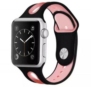 Correa Pulsera Compatible Apple Watch 38mm 40mm Series 4, Series 3, Series 2, Series 1 Silicona Blanda Deporte Spots Recambio Modelo Segun Fotografia Negro Rosa