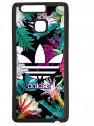 Funda carcasas móvil adidas flores compatible con el móvil Huawei P9 Lite