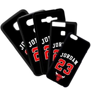 Fundas De Móviles Carcasas De Móvil De TPU Modelo Jordan Color Negro 23 Marcas Moda Baloncesto