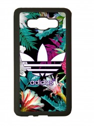 Funda carcasas móvil adidas flores compatible con movil Samsung Galaxy j1 2016