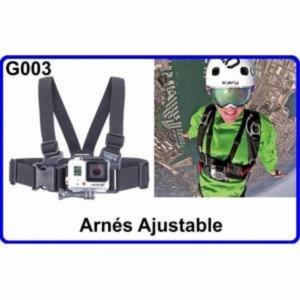Arnes Ajustable para Cámara Deportiva Compatible Con GoPro HERO HERO-1 2 3 HD