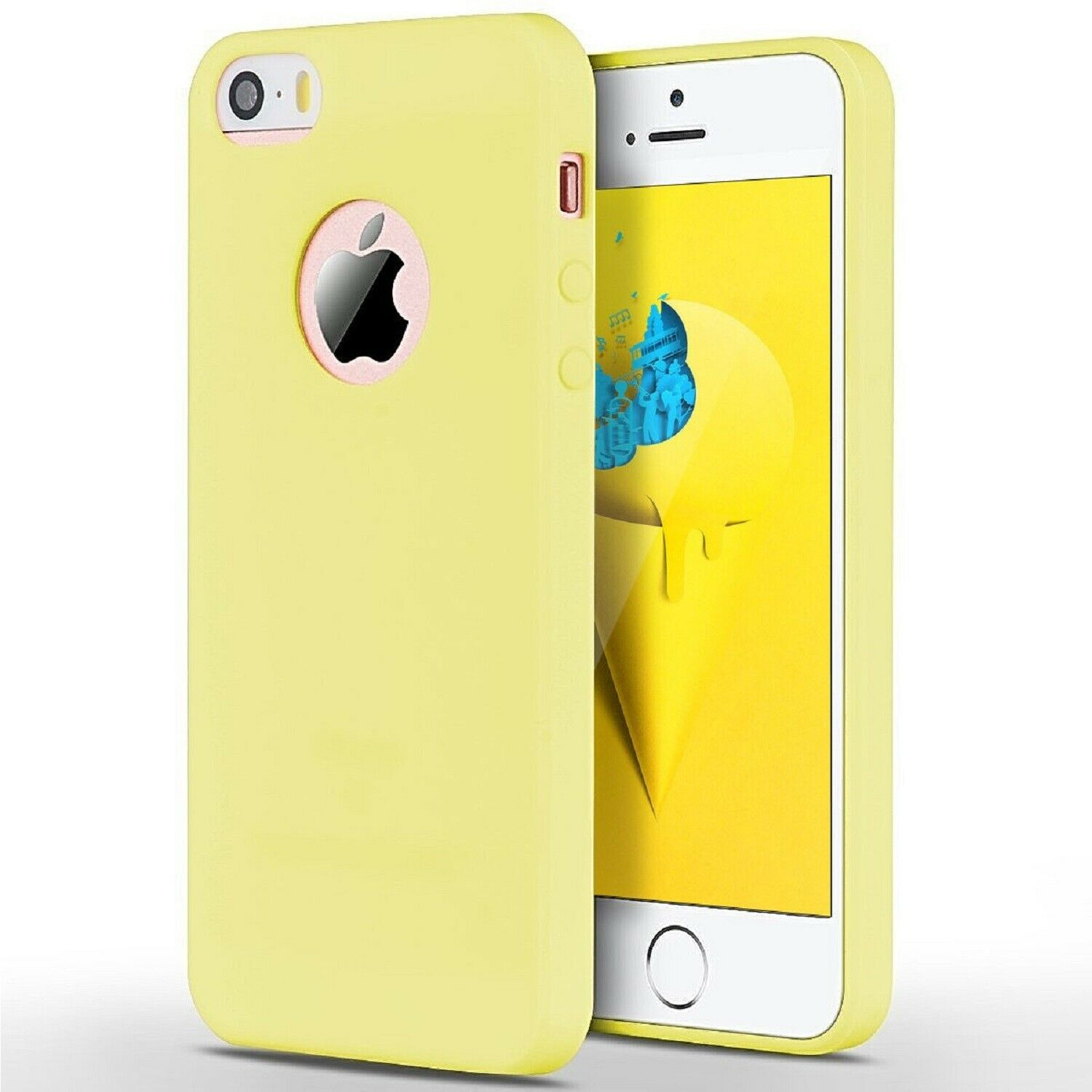 Funda Carcasa Case Iphone Silicona Flexible Ultra Fina Tpu Suave Compatible con iphone XR AMARILLO Agujero