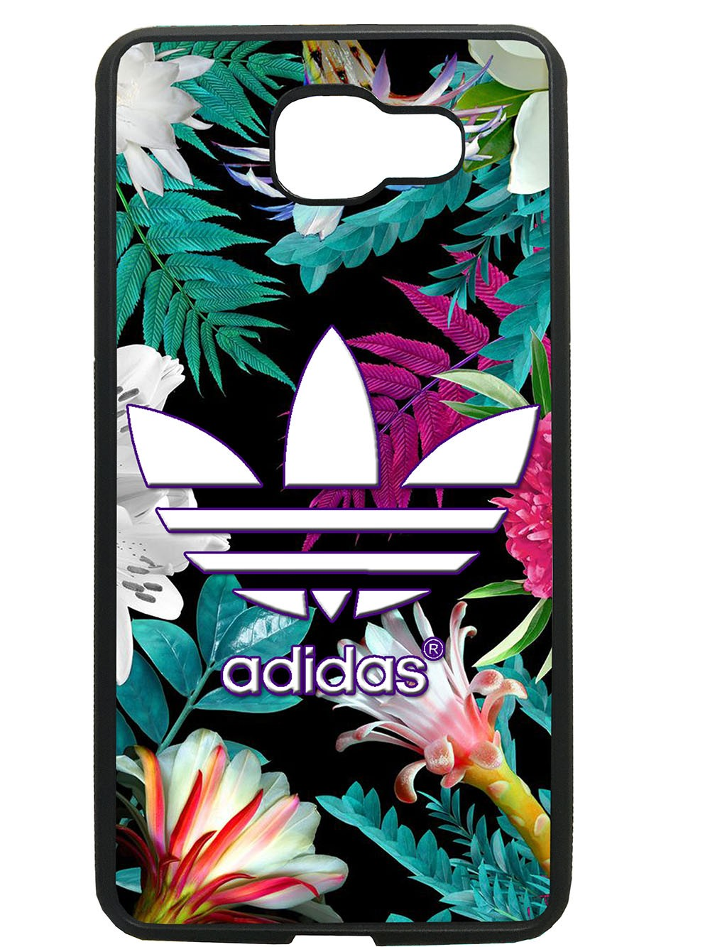 Funda carcasas móvil adidas flores compatible con movil Samsung Galaxy A3 2016